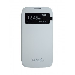 Чехол-книжка Samsung i9500 S View Cover white
