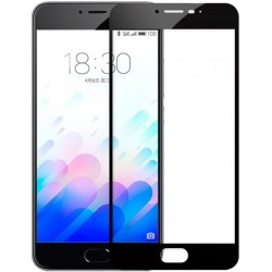 Стекло Meizu M3 mini/3S black frame