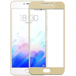 Стекло Meizu M5 Note gold frame