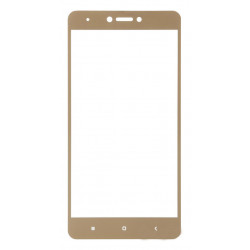 Стекло Xiaomi Redmi Note4X gold frame