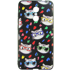 Силикон Xiaomi Redmi Note4X 3D Cat black