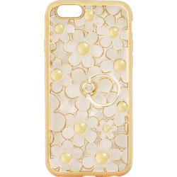 Силикон iPhone 6 gold Flowers Finger holder
