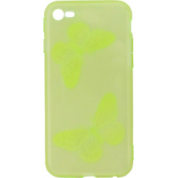 Силикон iPhone 6 lime Baterfly