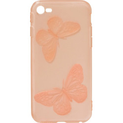 Силикон iPhone 6 red Baterfly