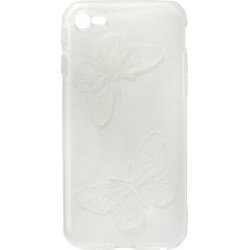 Силикон iPhone 6 white Baterfly