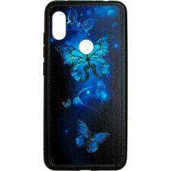 Накладка Xiaomi Redmi Note6 Pro Butterflies blue Night case