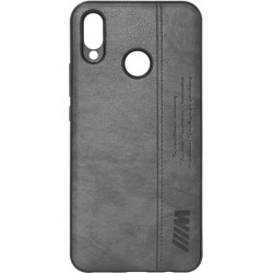 Силикон Huawei P Smart Plus black BMW Leather