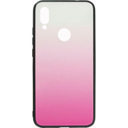 Накладка Xiaomi Redmi7 pink/white Gradient Glass