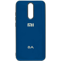 Накладка Xiaomi Redmi 8A blue Metal Glass