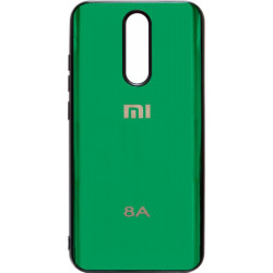 Накладка Xiaomi Redmi 8A green Metall Glass
